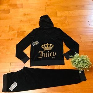 Juicy Couture logo velour hoodie and zuma pant